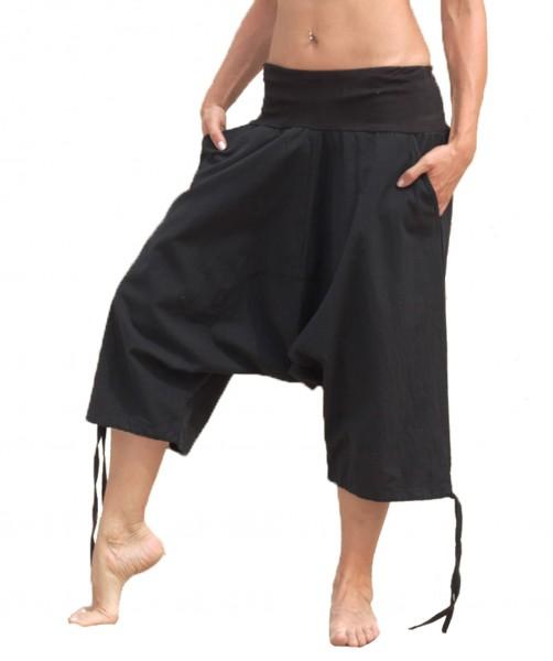 Kurze Aladinhose mit Taschen, Unisex, Baumwolle