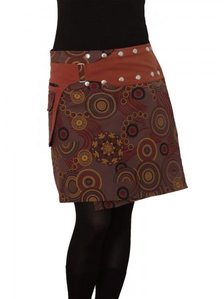 Wickelrock aus Baumwolle mit Reißverschlusstasche, Modell Nr. 195