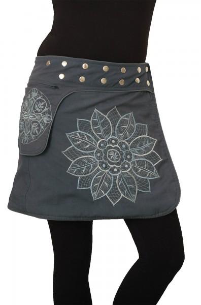 Wickelrock Minirock aus Baumwolle für Damen Nr. 241