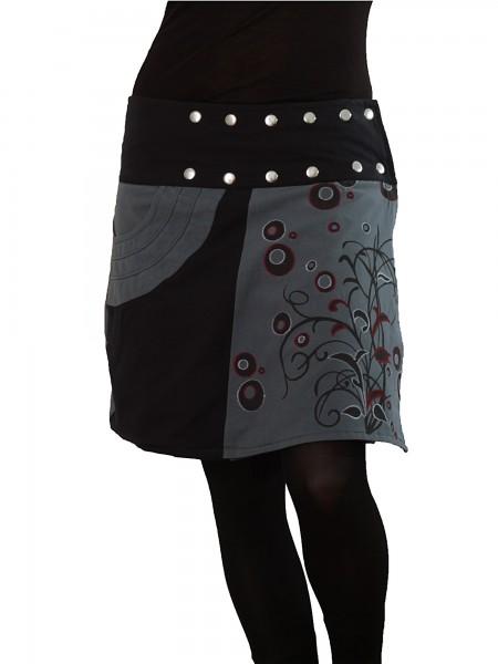 Wickelrock aus Baumwolle mit Tasche und Druckknöpfen, Goa Modell Nr. 175