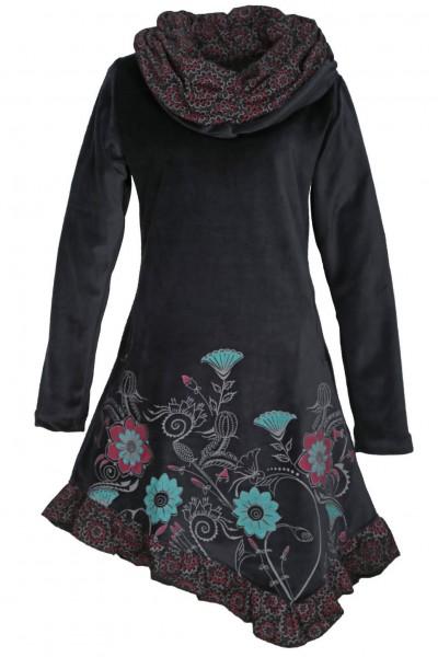 Kleid aus Baumwollsamt mit großem Kragen Nr. 20