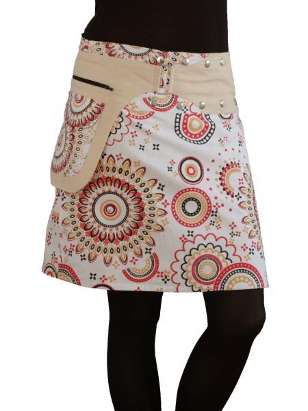 Wickelrock aus Baumwolle mit Reißverschlusstasche, Modell Nr. 112