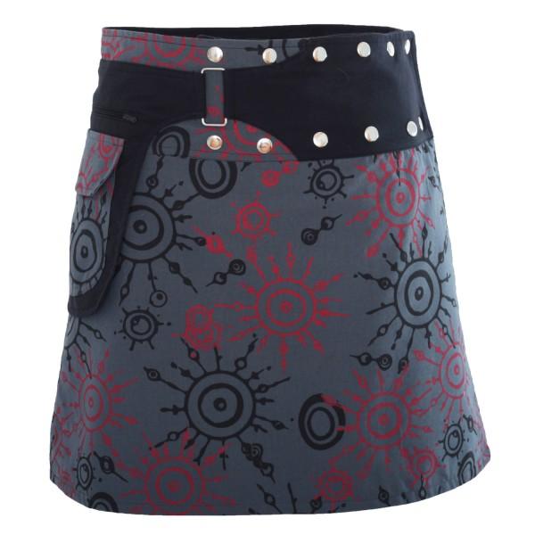 Wickelrock mit Reißverschlusstasche, Damenrock Modell Nr. 174