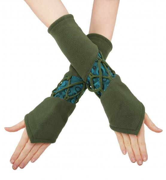 Armstulpen Damen Handstulpen aus Fleece in sieben Farben, Design Nr. 4