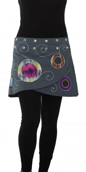 Damen Wickelrock mit aufgesetzten Kreisen Nr. 20