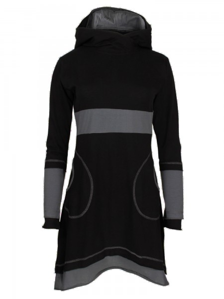 Schönes Kleid aus Baumwolle mit Kapuze für Damen, verschiedene Farben, Modell Nr. 37