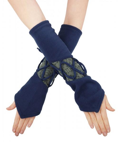 Handwärmer aus Fleece mit Schnürung für Damen, hw4