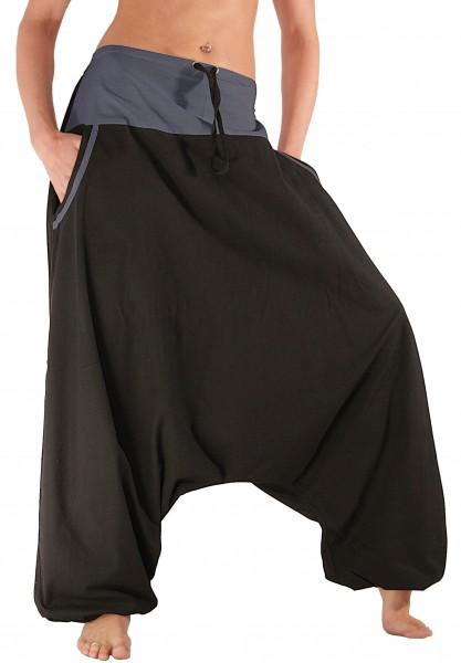 Aladinhose, Haremshose mit Taschen, Baumwolle, Modell Nr. P4
