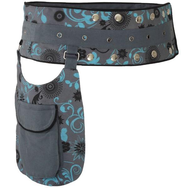Gürteltasche mit Druckknöpfen, Goa Hüfttasche Modell Nr. 9